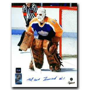 Mario Lessard Los Angeles Kings Autographed 8x10 Net Photo - CoJo Sport Collectables Inc.