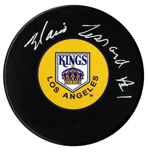 Mario Lessard Autographed Los Angeles Kings Puck - CoJo Sport Collectables Inc.