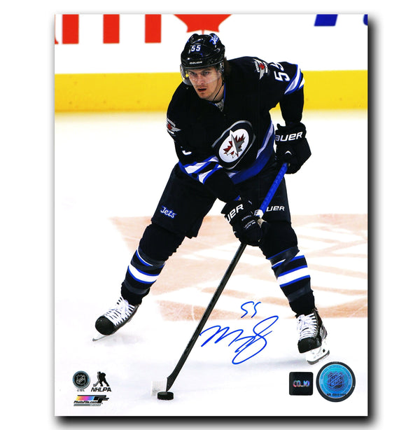 Mark Scheifele Winnipeg Jets Autographed Action 8x10 Photo - CoJo Sport Collectables Inc.