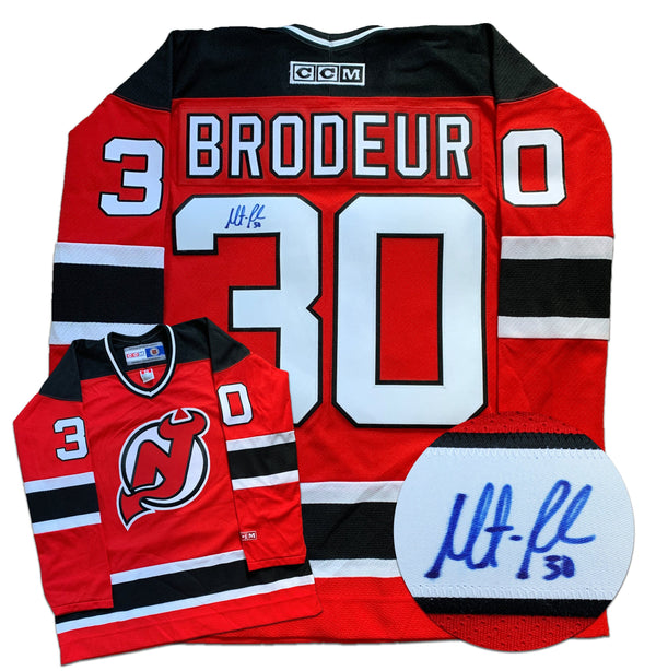 Martin Brodeur New Jersey Devils Autographed Replica CCM Vintage Jersey - CoJo Sport Collectables Inc.