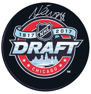 Martin Necas Autographed 2017 Draft Puck - CoJo Sport Collectables Inc.