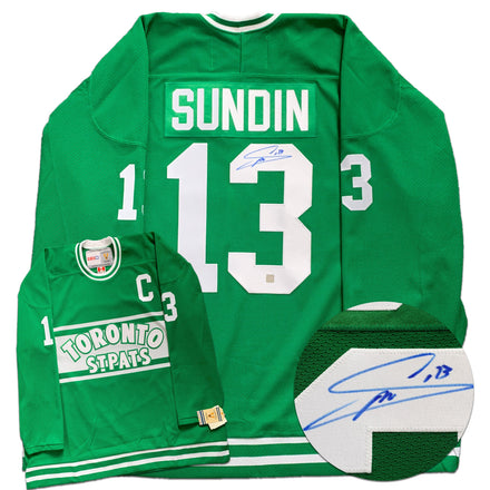 Mats Sundin Toronto St. Pats Autographed Replica CCM Vintage Jersey - CoJo Sport Collectables Inc.