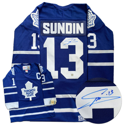 Mats Sundin Toronto Maple Leafs Autographed Replica CCM Vintage Jersey - CoJo Sport Collectables Inc.