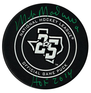 Mike Modano Dallas Stars Autographed 25th Anniversary Official Game Puck