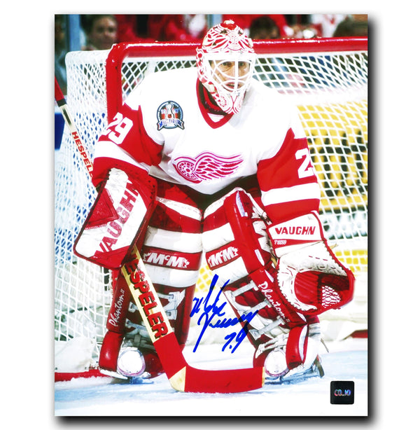 Mike Vernon Detroit Red Wings Autographed 8x10 Photo - CoJo Sport Collectables Inc.