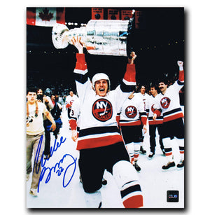 Mike Bossy New York Islanders Autographed Stanley Cup 8x10 Photo - CoJo Sport Collectables Inc.