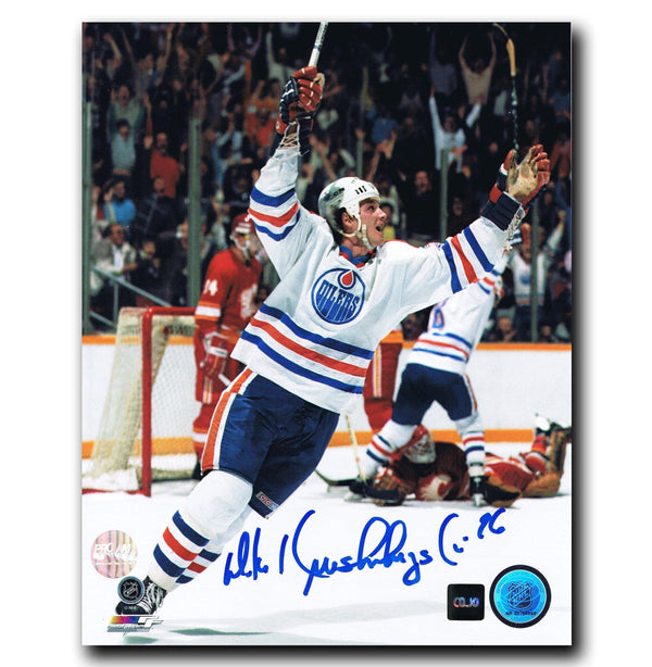 Mike Krushelnyski Edmonton Oilers Autographed 8x10 Photo - CoJo Sport Collectables Inc.