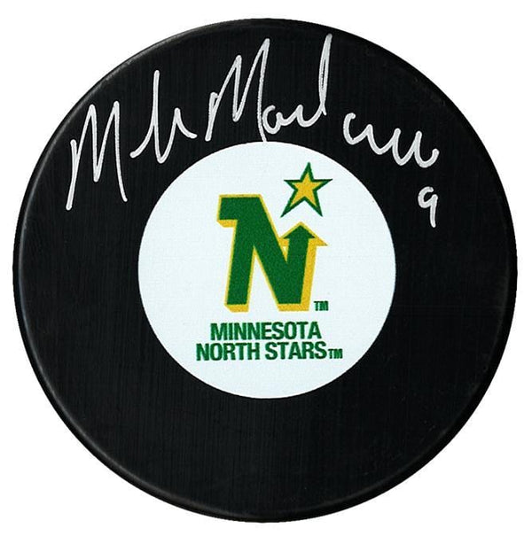Mike Modano Autographed Minnesota North Stars Puck - CoJo Sport Collectables Inc.