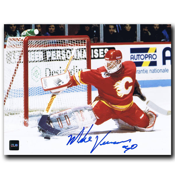 Mike Vernon Calgary Flames Autographed 8x10 Photo - CoJo Sport Collectables Inc.