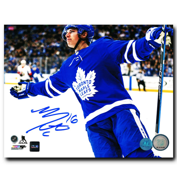 Mitch Marner Toronto Maple Leafs Autographed Goal Celebration 8x10 Photo