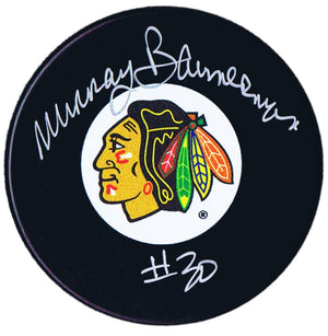Murray Bannerman Autographed Chicago Blackhawks Puck - CoJo Sport Collectables Inc.