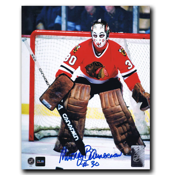 Murray Bannerman Chicago Blackhawks Autographed 8x10 Photo - CoJo Sport Collectables Inc.
