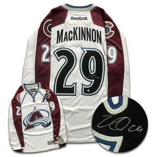 Nathan MacKinnon Colorado Avalanche Autographed Reebok Jersey - CoJo Sport Collectables Inc.
