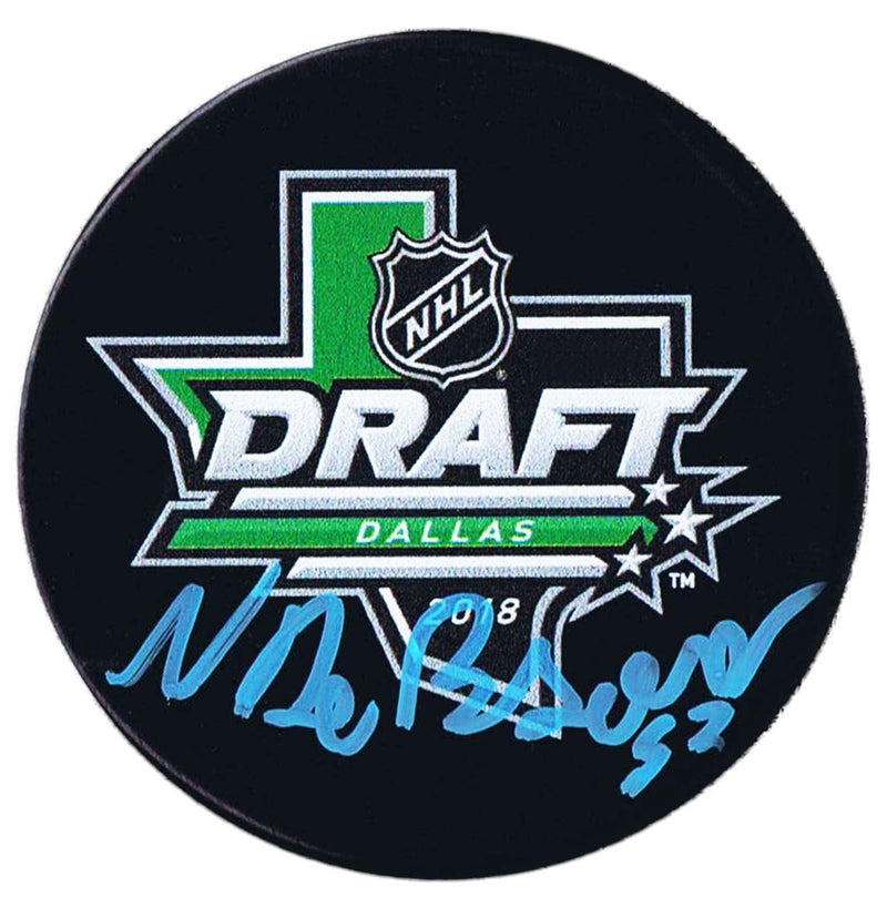 Noah Dobson New York Islanders Autographed 2018 NHL Draft Puck CoJo Sport Collectables