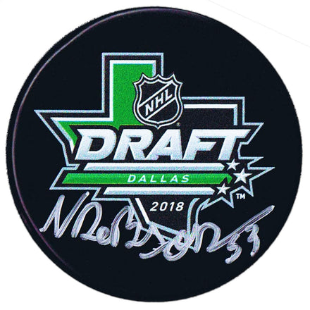 Noah Dobson New York Islanders Autographed 2018 NHL Draft Puck - CoJo Sport Collectables Inc.