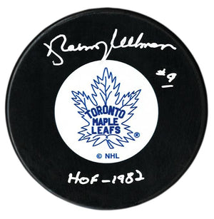 Norm Ullman Autographed Toronto Maple Leafs HOF Puck - CoJo Sport Collectables Inc.