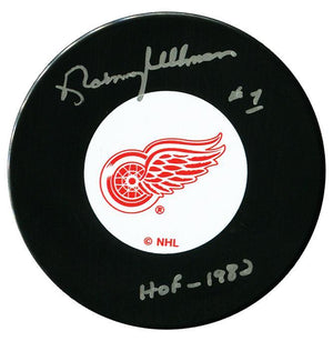 Norm Ullman Autographed Detroit Red Wings HOF Puck Autographed Hockey Pucks CoJo Sport Collectables