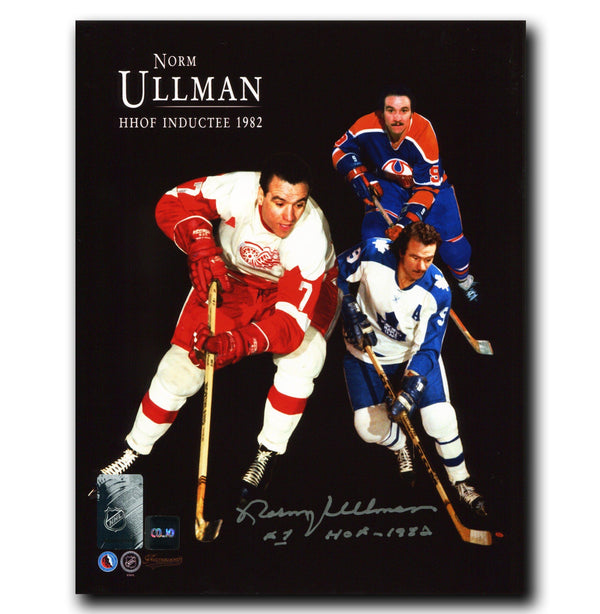 Norm Ullman Hockey Hall of Fame Autographed Collage 8x10 Photo Autographed Hockey 8x10 Photos CoJo Sport Collectables