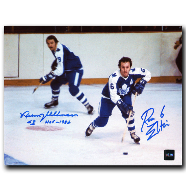 Norm Ullman and Ron Ellis Toronto Maple Leafs Dual Autographed 8x10 Photo - CoJo Sport Collectables Inc.