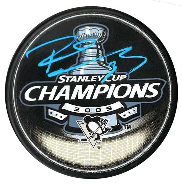Pascal Dupuis Pittsburgh Penguins Autographed 2009 Stanley Cup Champions Puck