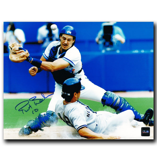 Pat Borders Toronto Blue Jays Autographed Action 8x10 Photo - CoJo Sport Collectables Inc.