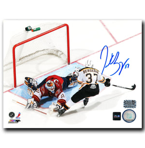 Patrice Bergeron Boston Bruins Autographed Breakaway 8x10 Photo - CoJo Sport Collectables Inc.