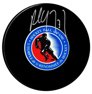 Paul Coffey Autographed Hockey Hall of Fame Puck