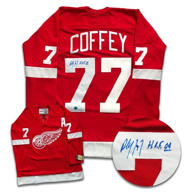 Paul Coffey Detroit Red Wings Autographed CCM Jersey - CoJo Sport Collectables Inc.