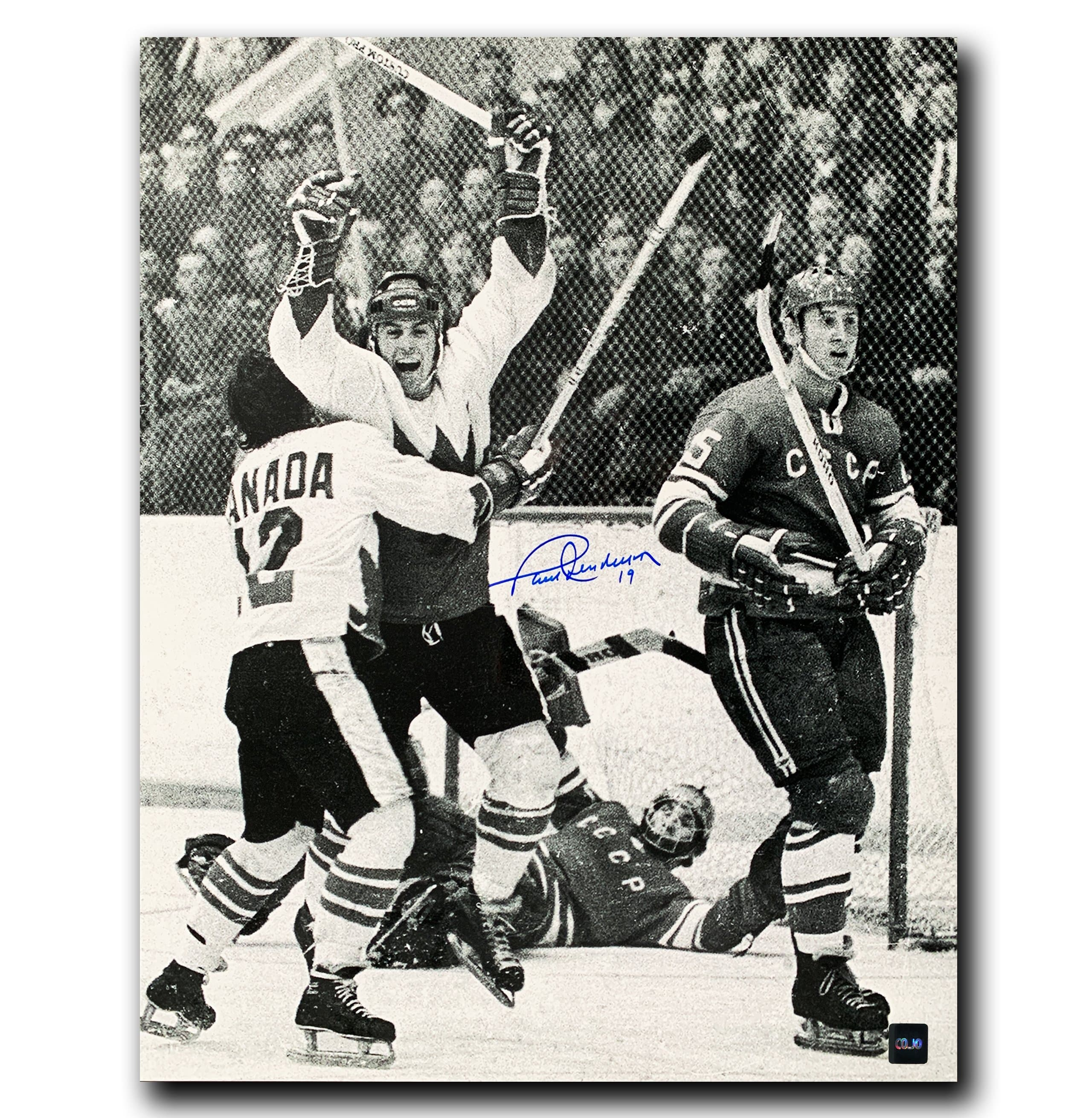 Paul Henderson 1972 Summit Series Autographed 16x20 Photo - CoJo Sport Collectables Inc.