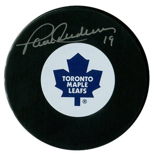Paul Henderson Autographed Toronto Maple Leafs Puck - CoJo Sport Collectables Inc.