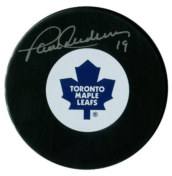 Paul Henderson Autographed Toronto Maple Leafs Puck Autographed Hockey Pucks CoJo Sport Collectables