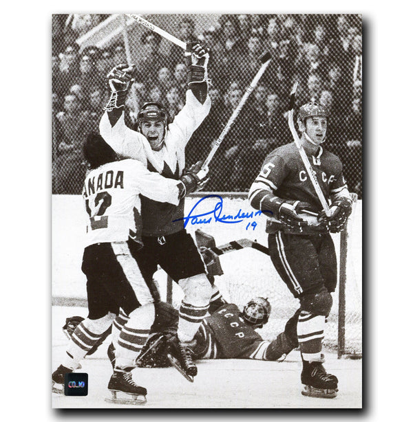 Paul Henderson Team Canada Autographed 1972 Summit Series 8x10 Photo - CoJo Sport Collectables Inc.
