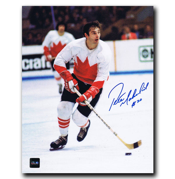 Pete Mahovlich Montreal Canadiens Autographed Team Canada 8x10 Photo Autographed Hockey 8x10 Photos CoJo Sport Collectables