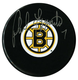 Phil Esposito Autographed Boston Bruins Puck Autographed Hockey Pucks CoJo Sport Collectables