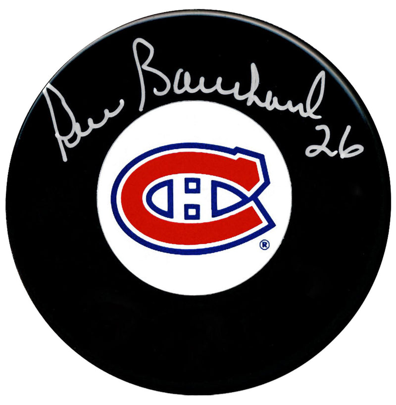 Pierre Bouchard Autographed Montreal Canadiens Puck - CoJo Sport Collectables Inc.