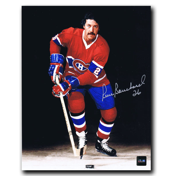 Pierre Bouchard Montreal Canadiens Autographed 8x10 Photo Autographed Hockey 8x10 Photos CoJo Sport Collectables
