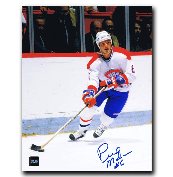 Pierre Mondou Montreal Canadiens Autographed 8x10 Photo Autographed Hockey 8x10 Photos CoJo Sport Collectables