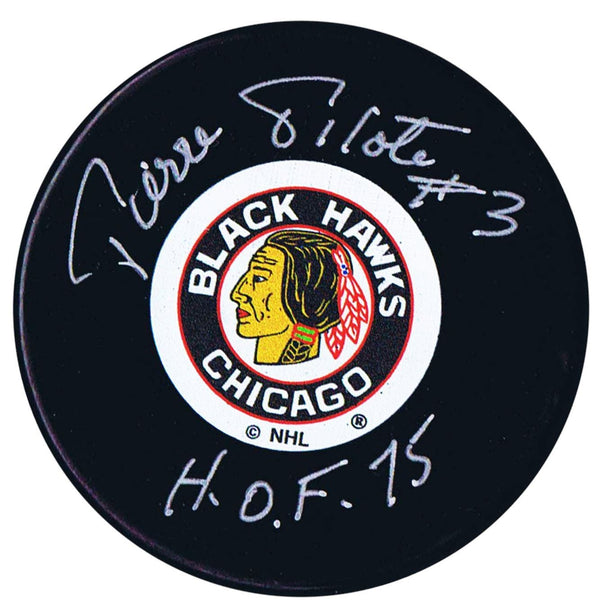 Pierre Pilote Autographed Chicago Blackhawks Puck - CoJo Sport Collectables Inc.