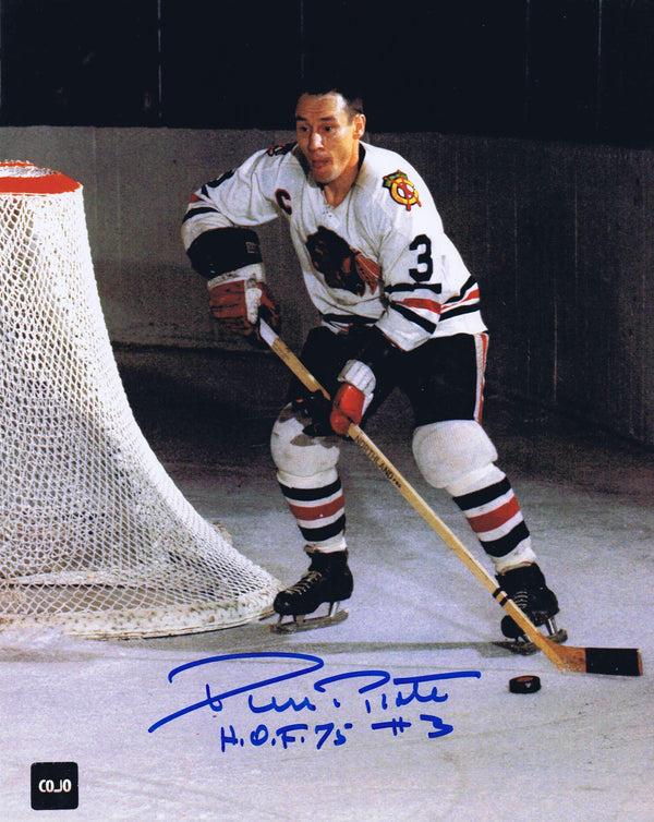 Pierre Pilote Chicago Blackhawks Autographed 8x10 Photo - CoJo Sport Collectables Inc.