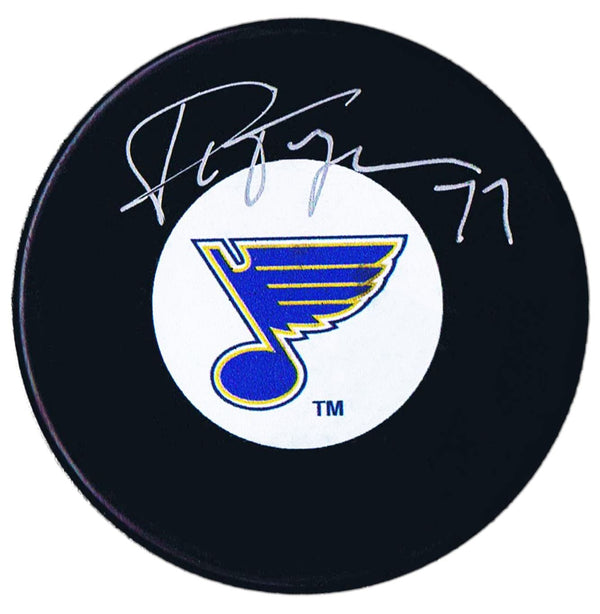Pierre Turgeon Autographed St. Louis Blues Puck - CoJo Sport Collectables Inc.