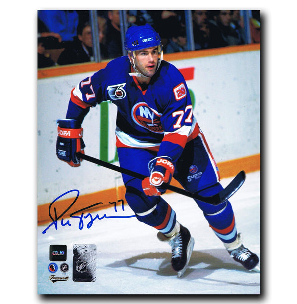 Pierre Turgeon New York Islanders Autographed 8x10 Photo Autographed Hockey 8x10 Photos CoJo Sport Collectables