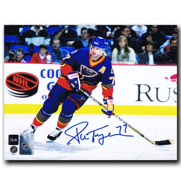 Pierre Turgeon St. Louis Blues Autographed 8x10 Photo - CoJo Sport Collectables Inc.