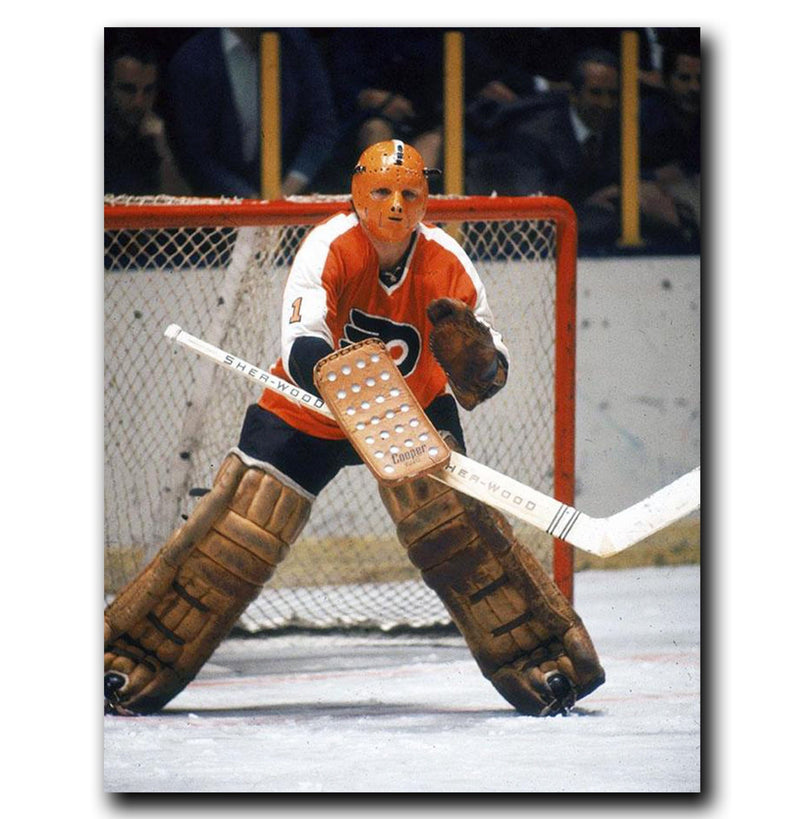 (Pre-Order) Doug Favell Philadelphia Flyers Autographed Crease 8x10 Photo
