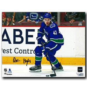Quinn Hughes Vancouver Canucks Autographed Action 8x10 Photo