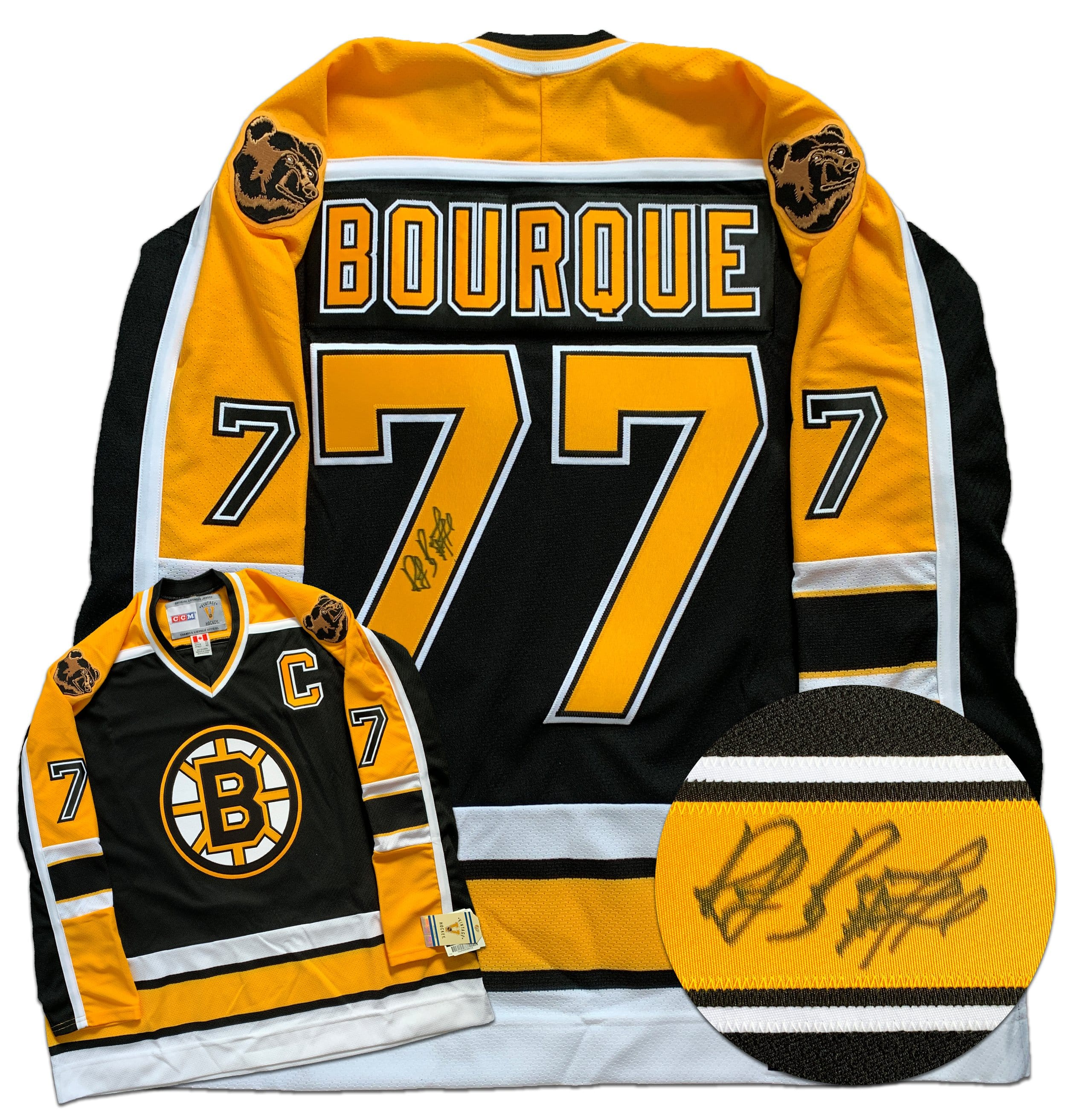 Ray Bourque Boston Bruins Autographed Replica CCM Vintage Jersey - CoJo Sport Collectables Inc.