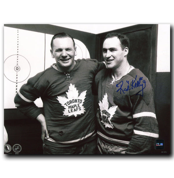 Red Kelly Toronto Maple Leafs Autographed 8x10 Photo w/Johnny Bower - CoJo Sport Collectables Inc.