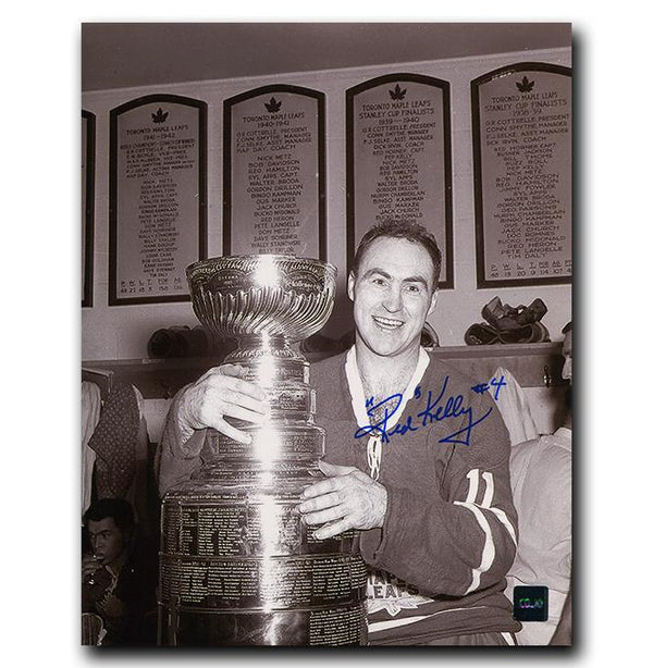 Red Kelly Toronto Maple Leafs Autographed Stanley Cup 8x10 Photo - CoJo Sport Collectables Inc.