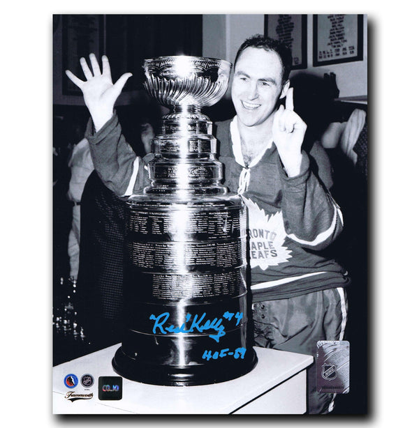 Red Kelly Toronto Maple Leafs Autographed Stanley Cup 8x10 Photo Autographed Hockey 8x10 Photos CoJo Sport Collectables