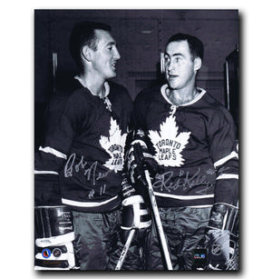 Red Kelly and Bob Nevin Toronto Maple Leafs Dual Autographed 8x10 Photo Autographed Hockey 8x10 Photos CoJo Sport Collectables