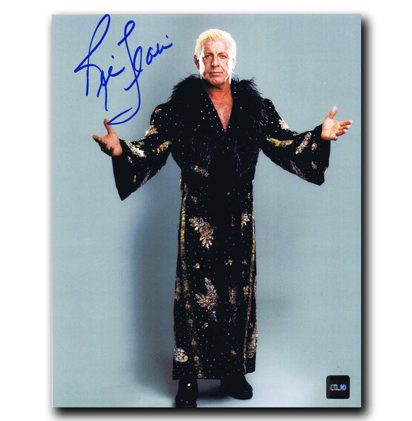 Ric Flair WWE Autographed 8x10 Photo - CoJo Sport Collectables Inc.